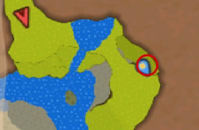 カクセの森の隠れた場所にいるケルベロス