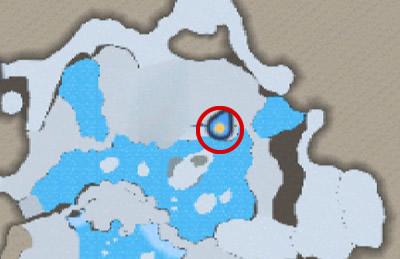 タルジュ雪原のマップ北にいるプーギーの場所