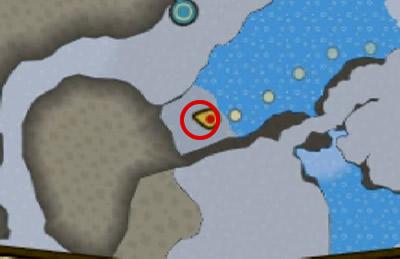タルジュ雪原の水上ライドで行けるプーギーがいる場所